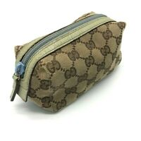 GUCCI GG Canvas Cosmetic Pouch bag