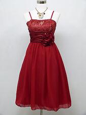 Cherlone Red Prom Ball Party Evening Wedding Knee Length Bridesmaid Dress 12