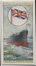 Colonial Flag Of The Governor Of Northern Ireland Ensign 80+ Y/O  Ad Trade Card