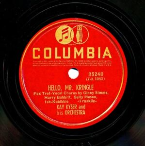 KAY KYSER and his Orchestra on 1939 Columbia 35248 - Hello Mr. Kringle