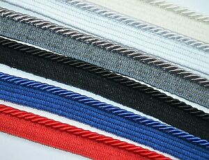 5 mm flanged silky cord furnishing upholstery cushions piping - 1 m up to 20 m
