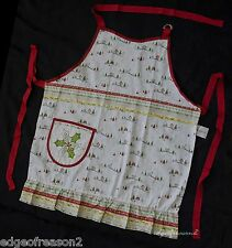 PORTMEIRION CHRISTMAS WISH FRILLED  COTTON DRILL APRON