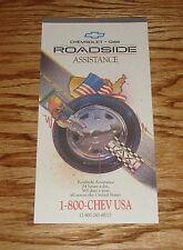 Original 1995 Chevrolet Geo Roadside Assistance Brochure 95 Chevy