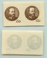 Central Lithuania 1921 SC 58 mint proof pair . e968