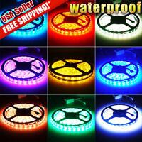 Multi-Color 5M 5050 SMD 300 LED Waterproof Car Boat Flexible Strip Light Tape US