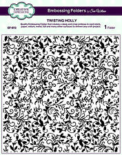 "CREATIVE EXPRESSIONS 8X8"" Embossing Folder TWISTING HOLLY Sue Wilson EF-072"