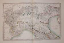 ANTICA CARTOGRAFIA_ITALIA SETTENTRIONALE_VENETO_LIGURIA_SVIZZERA_ROMAGNA_MARCHE