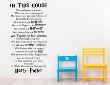 In This House We Do Harry Potter Kids Wall Art Quote Vinyl Decal Kids Playroom