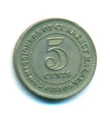MALAYA COIN 5 CENTS 1950 COPPER-NICKEL KM#7 UNC