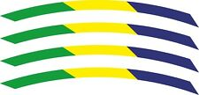 Stripe Stickers of 4x Brazil Flag Rim Wheel Bicycle for 700c Wheels Bike Cycling