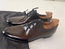 Berluti Alessandro Galet Dark Brown Leather Oxfords UK7.5 US8.5 EU41.5