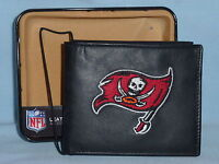 TAMPA BAY BUCCANEERS  embroidered  Leather BiFold Wallet    NIB    black