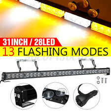 "31"" 28 LED Strobe Light Bar Car Truck Hazard Emergency Warning Windshield Flash"