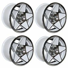 4 x 3SDM 0.05 White / Cut Polished Alloy Wheels - 5x112 | 18x8.5"