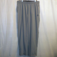 Reebok Track Pants Men's Large L Gray 100% Polyester