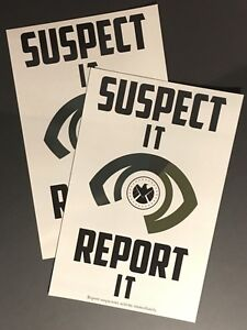 SHIELD • SUSPECT IT REPORT IT • x4 5x7 POSTCARDS • MARVEL AVENGERS AGENTS