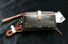 Genuine The SAK Iris Crossbody Leather Bag in Black including wrist strap