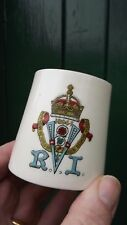1897 Queen Victoria Diamond Jubilee Goss China Mug royal crest Fully stamped