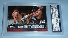 Carlos Condit Martin Kampmann Signed 2009 Topps Rookie Debut Card PSA/DNA UFC RC
