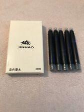 NEW JINHAO BLUE INK MEDIUM SIZE INTERNATIONAL INK CARTRIDGES X 5