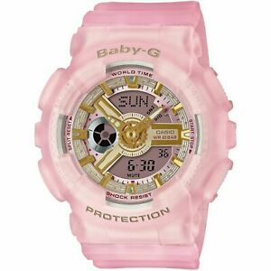 Casio G-Shock Baby-G BA110SC-4A Analog-Digital Pink Semi-Transparent Resin Watch