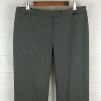 PENDLETON womens size 16 x 32 stretch gray flat front straight dress pants EUC