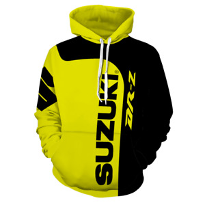 Suzuki DRZ Style Hoodie Hooded Mens Adults Pullover Jumper Warm Classic Unisex