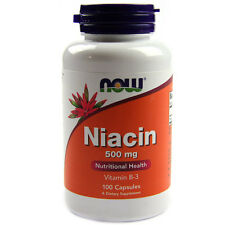 NOW Foods Niacin 500MG 100 Caps Vitamin B-3 FREE SHIPPING! B3 Trusted Seller