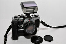 Olympus OM-2n MD 35mm SLR film camera w 50 1.8,winder 2, Shoe 4! Read note!