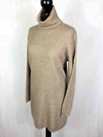 TRUSSARDI Abito Vestito Donna Lana Dritto Oversize Wool Woman Dress Sz.M - 44