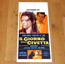 IL GIORNO DELLA CIVETTA locandina poster Claudia Cardinale Franco Nero Mafia i56