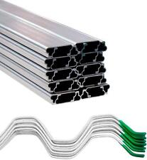 """Greenhouse Wire Kit 1"""" x 6.5' Aluminum Channel and 6.5' Steel Wire ( 20 Pack)"""