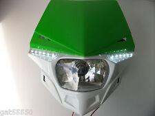 UFO verde camino legal Faro Enduro Streetfighter Kawasaki Kdx Kxf KLX KDX ZXR