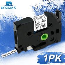 1PK TZe221 TZ221 Compatible Brother PTouch TZ TZe Label Maker Tape 9mm Laminated