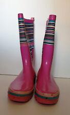 Damengummistiefel Gr. 41/42, rosa gestreift, getragen, undicht und brüchig!