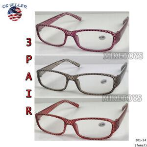 READING GLASSES LENS 3, PACK LOT CLASSIC READER Multi COLOR WOMEN STYLE(24)
