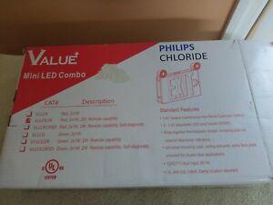 Chloride VLLCR2R LED Exit/Emergency Light Combo, White/Red