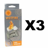 Ultimate Survival Technologies WetFire Tinder All-Weather Fire (3-Pack of 12)