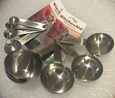 New KitchenAid Stainless Steel Set of Measuring Cups and Spoons
