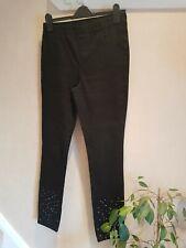 Pantaloni donna-Nero PLISSETTATO DESIGN ELEGANTE Treggings-misure UK 18//20 da Avon