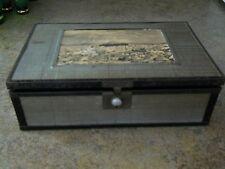 Vintage Cedar Jewelry Box with Mirror