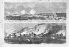 Fort Fisher Entrance to Cape Fear River  - Destruction of Colt's Armory  -  1864