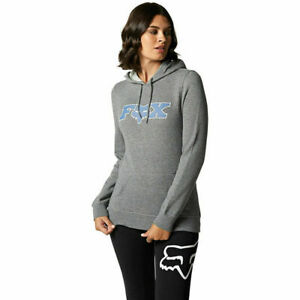 Fox Racing Outer Edge Womens Pullover Hoody Heather Graphite 26285-185-S SMALL