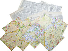 """Craft collage 4"""" scrapbook papers x 75 old maps 75 dictionary pages 25 punchies"""