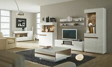 Linate 2 - white entertainment center cabinet / living room wall unit / tv stand