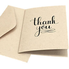 New Thank You Cards 100% Recycled Card with Matching Envelopes (Pack 10)