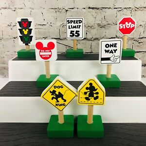 Melissa & Doug Disney Mickey Mouse Clubhouse Lot of (7) Different Traffic Signs