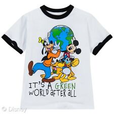 """Boys Organic Cotton Disney T-Shirt""""It's a Green World After All"""" Size Xs 4 Nwt"""