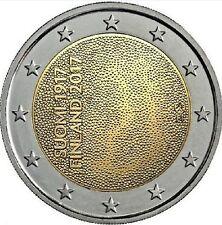 """2 Euro Finlandia Finland Suomi 2017 """" Anniversario Indipendenza """" Prevendita FDC"""