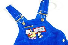 Vintage Hello Kitty Corduroy Overalls Youth Boys Girls 4T Blue TV Show Promo
